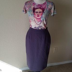 70's/80's Plum Pencil Skirt